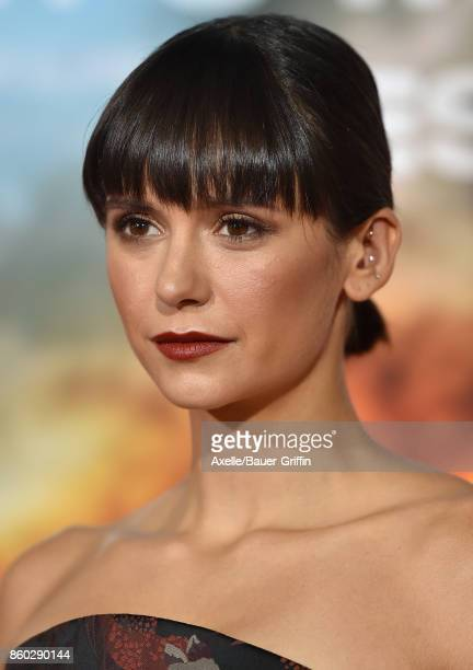 Actress Nina Dobrev arrives at the premiere of 'Only the Brave' at Regency Village Theatre on October 8 2017 in Westwood California