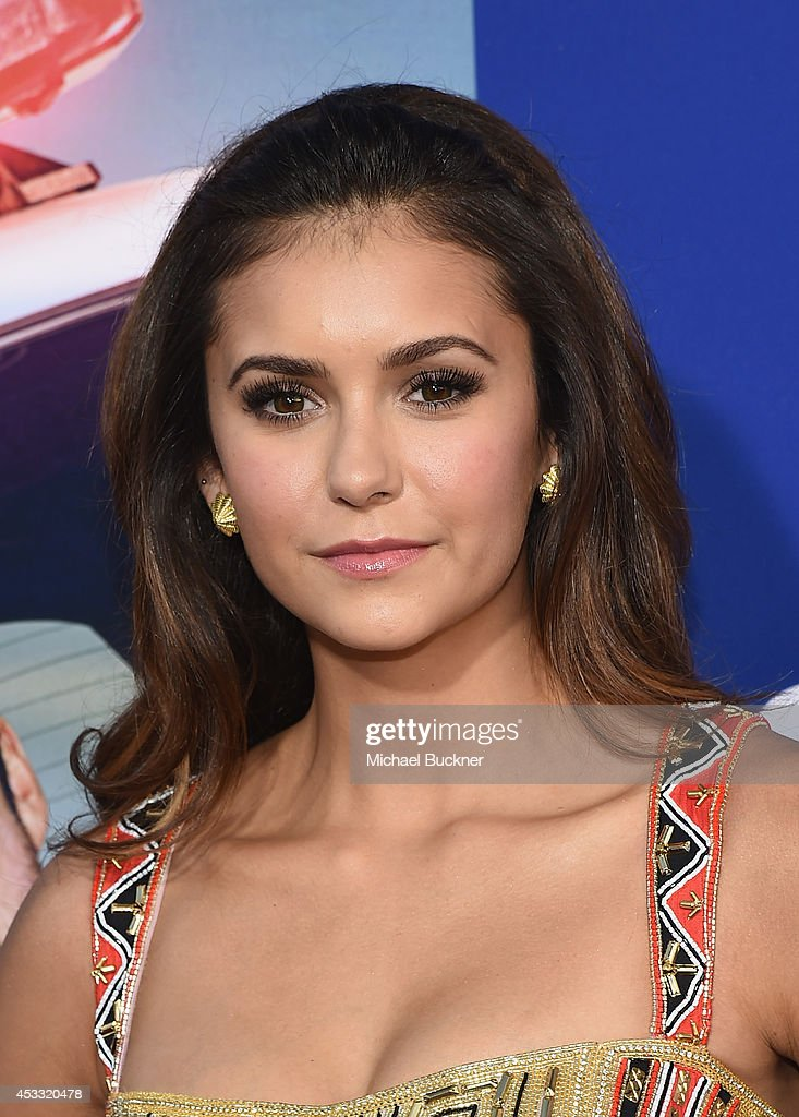 Actress Nina Dobrev arrives at the premiere of Twentieth Century Fox's 'Let's Be Cops' at ArcLight Hollywood on August 7, 2014 in Hollywood, California.