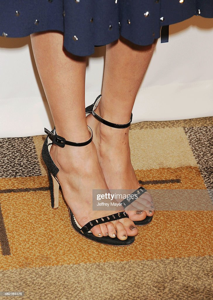 Actress Nina Dobrev (shoe detail) at the 2014 PaleyFest - 'The Vampire Diaries' & 'The Originals' held at Dolby Theatre on March 21, 2014 in Hollywood, California.