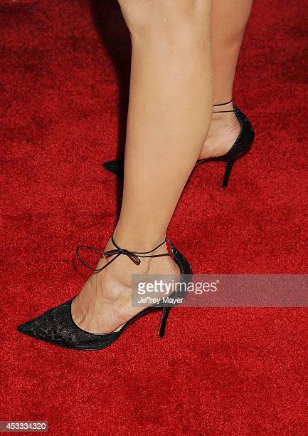 Actress Nina Dobrev at the 'Let's Be Cops' Los Angeles Premiere held at the ArcLight Hollywood on August 7 2014 in Hollywood California