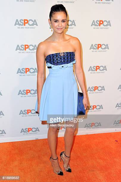 Actress Nina Dobrev attends ASPCA Benefit event at Private Residence on October 20 2016 in Los Angeles California