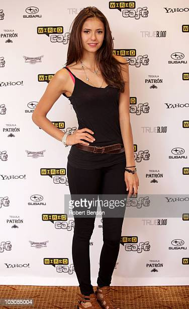 Actress Nina Dobrev attends Day 3 of the WIRED Cafe at ComicCon 2010 held at the Omni Hotel on July 24 2010 in San Diego California