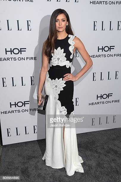 Actress Nina Dobrev attends ELLE's 6th Annual Women In Television Dinner at Sunset Tower Hotel on January 20 2016 in West Hollywood California