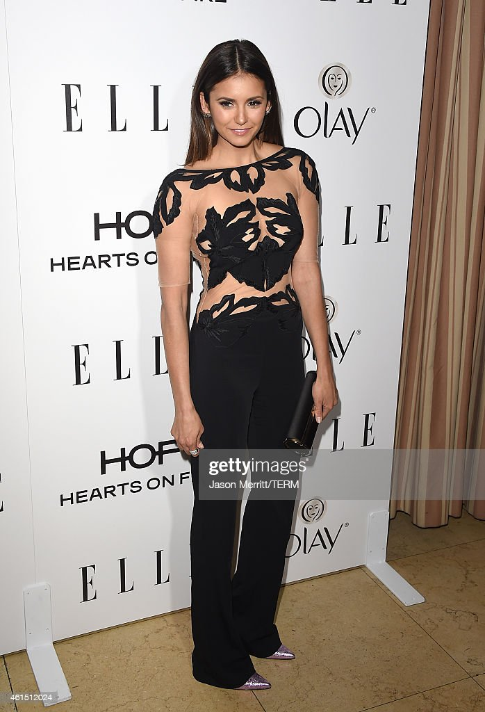 Actress Nina Dobrev attends ELLE's Annual Women in Television Celebration on January 13 2015 at Sunset Tower in West Hollywood California Presented...