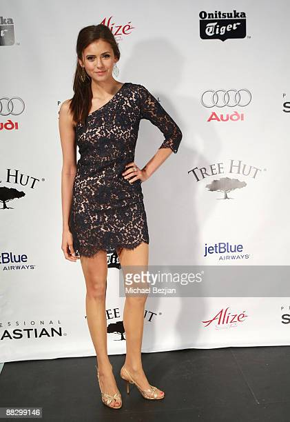 Actress Nina Dobrev attends Hollywood Life's 11th Annual Young Hollywood Awards Sponsors at The Eli and Edythe Broad Stage on June 7 2009 in Santa...