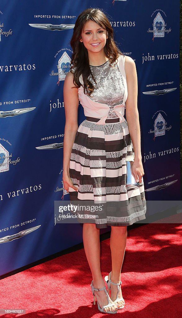 Actress Nina Dobrev attends John Varvatos 10th Annual Stuart House Benefit Presented by Chrysler, at John Varvatos Los Angeles on March 10, 2013 in Los Angeles, California.