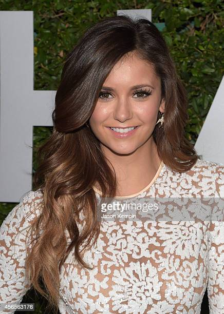 Actress Nina Dobrev attends Michael Kors Launch of Claiborne Swanson Frank's 'Young Hollywood' on October 2 2014 in Beverly Hills California