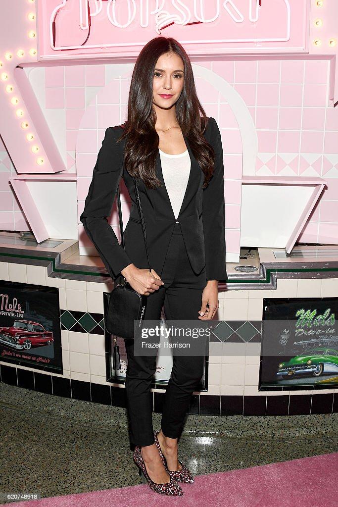 Actress Nina Dobrev attends Poppy Jamie, Suki Waterhouse, Leo Seigal and Cade Hudson celebration of the launch of POP & SUKI on November 2, 2016 in Los Angeles, California.