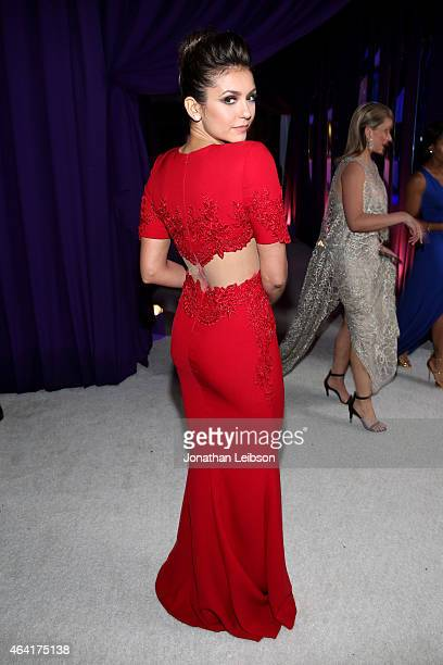 Actress Nina Dobrev attends ROCA PATRON TEQUILA at the 23rd Annual Elton John AIDS Foundation Academy Awards Viewing Party on February 22 2015 in Los...