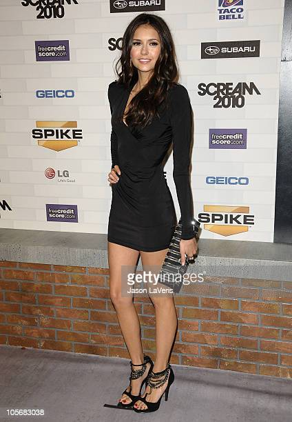 Actress Nina Dobrev attends Spike TV's 'Scream 2010' at The Greek Theatre on October 16 2010 in Los Angeles California