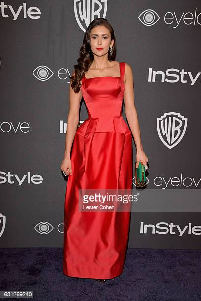 Actress Nina Dobrev attends the 18th Annual PostGolden Globes Party hosted by Warner Bros Pictures and InStyle at The Beverly Hilton Hotel on January...