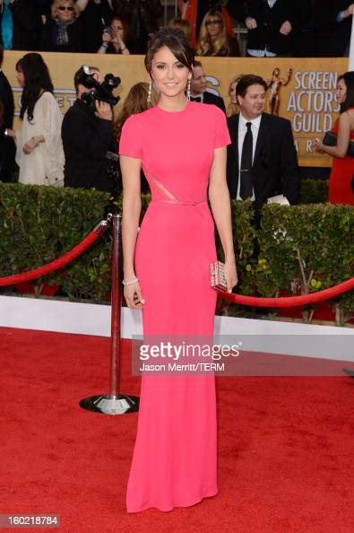 Actress Nina Dobrev attends the 19th Annual Screen Actors Guild Awards at The Shrine Auditorium on January 27 2013 in Los Angeles California...