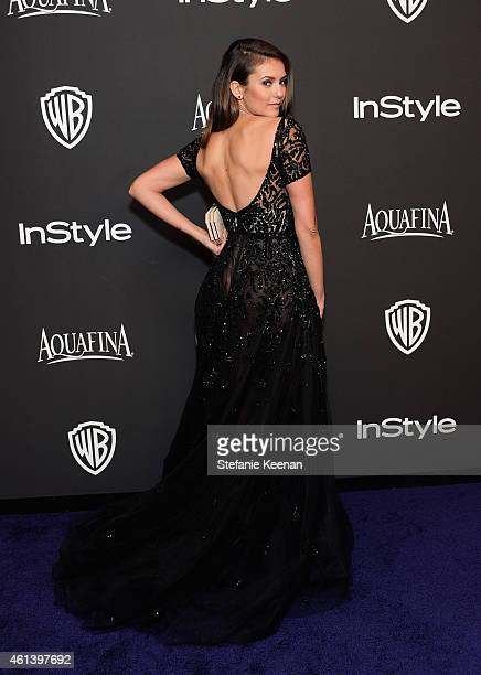 Actress Nina Dobrev attends the 2015 InStyle And Warner Bros 72nd Annual Golden Globe Awards PostParty at The Beverly Hilton Hotel on January 11 2015...