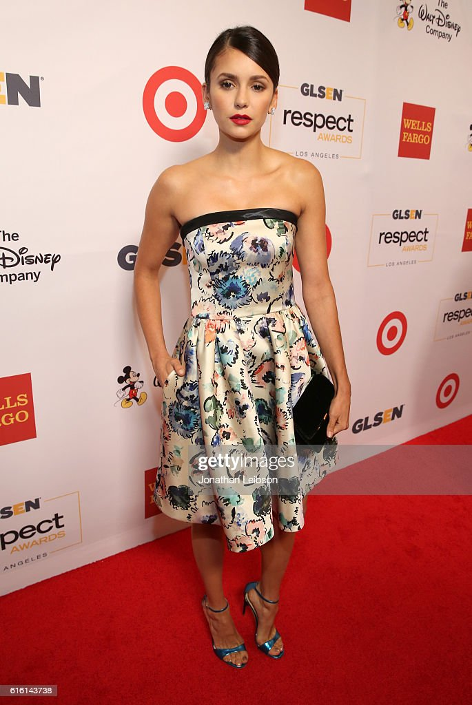Actress Nina Dobrev attends the 2016 GLSEN Respect Awards - Los Angeles at the Beverly Wilshire Four Seasons Hotel on October 21, 2016 in Beverly Hills, California.