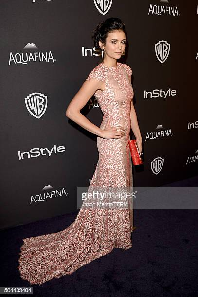Actress Nina Dobrev attends The 2016 InStyle And Warner Bros 73rd Annual Golden Globe Awards PostParty at The Beverly Hilton Hotel on January 10 2016...