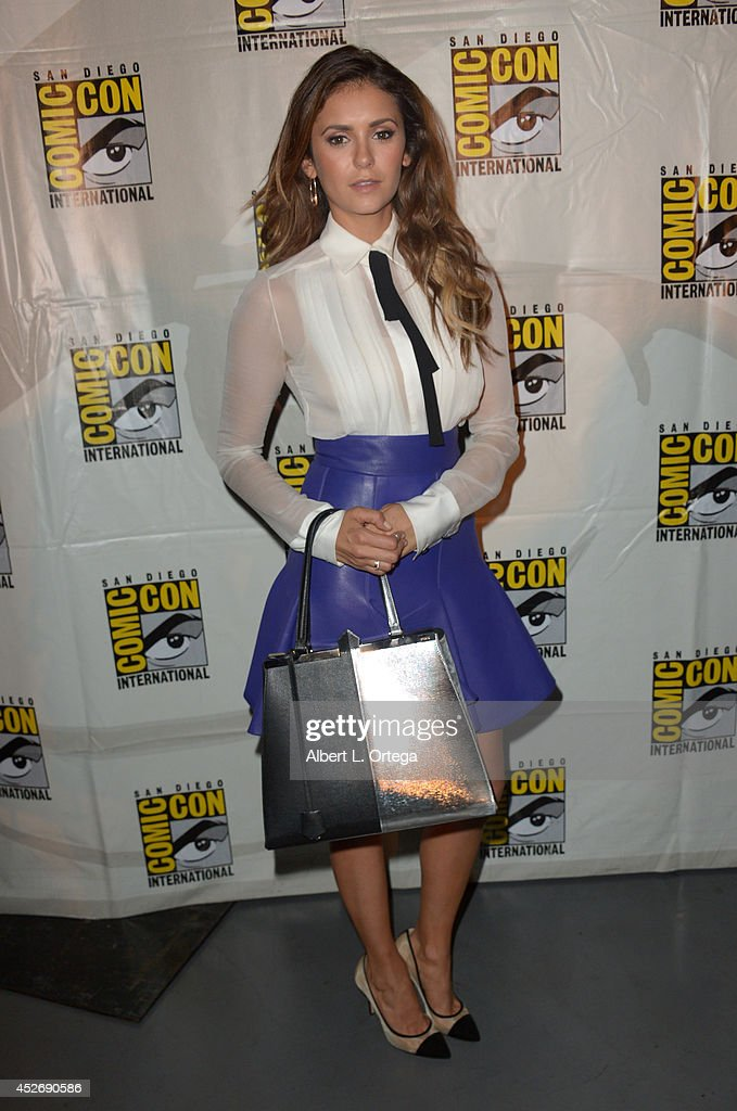 Actress <a gi-track='captionPersonalityLinkClicked' href=/galleries/search?phrase=Nina+Dobrev&family=editorial&specificpeople=4397485 ng-click='$event.stopPropagation()'>Nina Dobrev</a> attends the 20th Century Fox presentation during Comic-Con International 2014 at San Diego Convention Center on July 25, 2014 in San Diego, California.