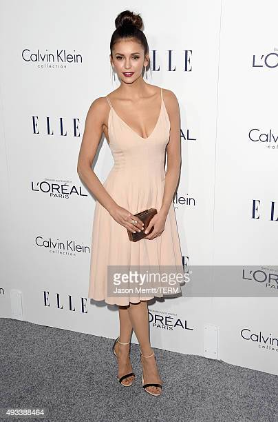 Actress Nina Dobrev attends the 22nd Annual ELLE Women in Hollywood Awards at Four Seasons Hotel Los Angeles at Beverly Hills on October 19 2015 in...