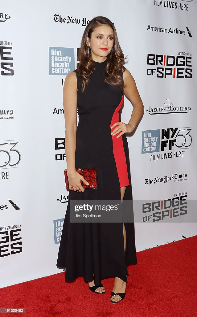 Actress Nina Dobrev attends the 53rd New York Film Festival premiere of 'Bridge Of Spies' at Alice Tully Hall, Lincoln Center on October 4, 2015 in New York City.