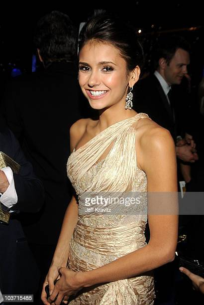 Actress Nina Dobrev attends the 62nd Annual Primetime Emmy Awards Governors Ball held at the Los Angeles Convention Center on August 29 2010 in Los...