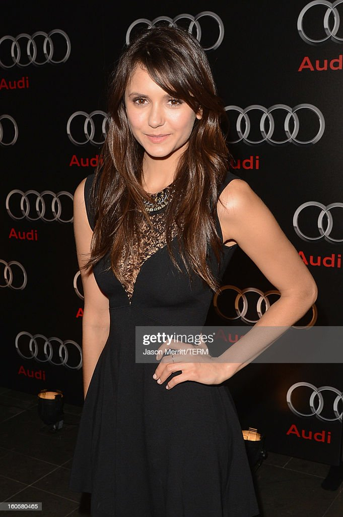 Actress Nina Dobrev attends the Audi Forum New Orleans at the Ogden Museum of Southern Art on February 2, 2013 in New Orleans, Louisiana.