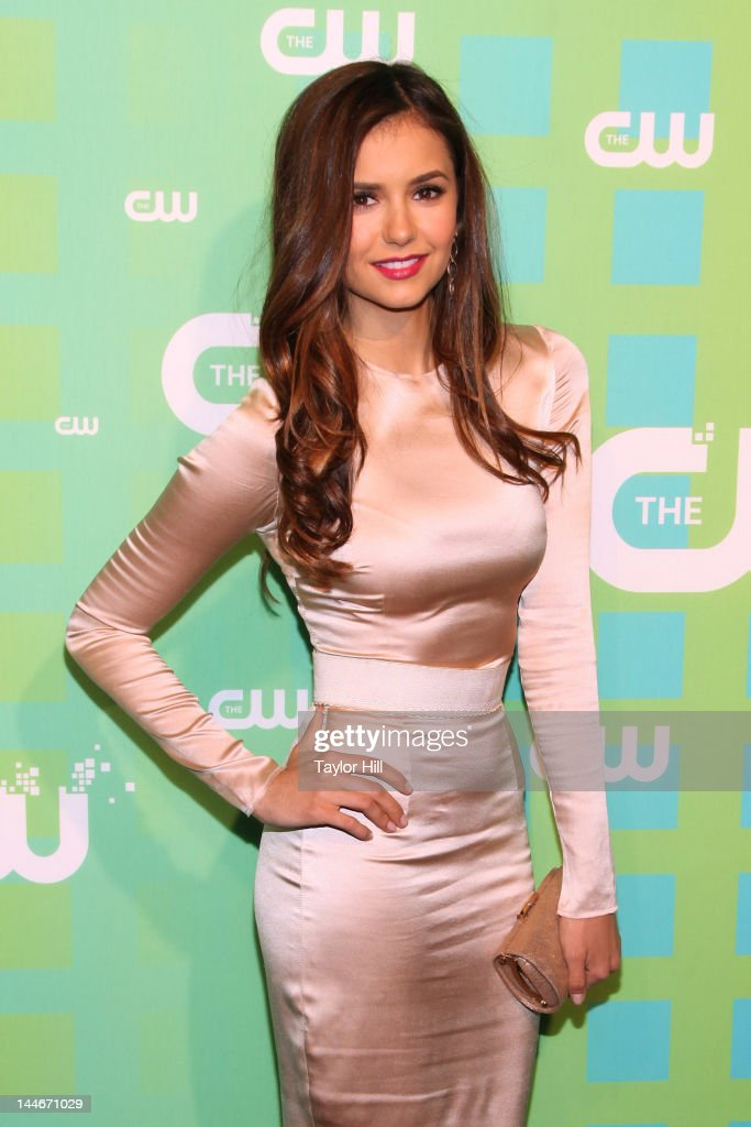 Actress <a gi-track='captionPersonalityLinkClicked' href=/galleries/search?phrase=Nina+Dobrev&family=editorial&specificpeople=4397485 ng-click='$event.stopPropagation()'>Nina Dobrev</a> attends The CW Network's New York 2012 Upfront at New York City Center on May 17, 2012 in New York City.