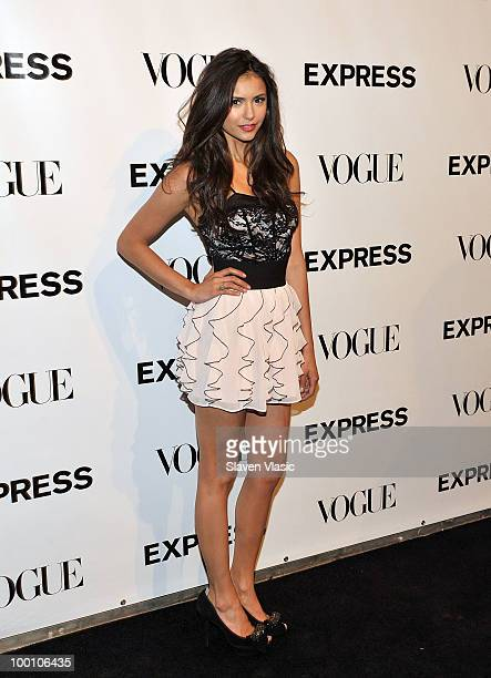Actress Nina Dobrev attends the EXPRESS 30th anniversary party at Eyebeam on May 20 2010 in New York City
