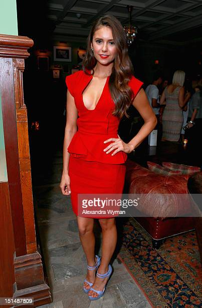 Actress Nina Dobrev attends the Late Lounge hosted by Grey Goose Vodka at Soho House on September 7 2012 in Toronto Canada