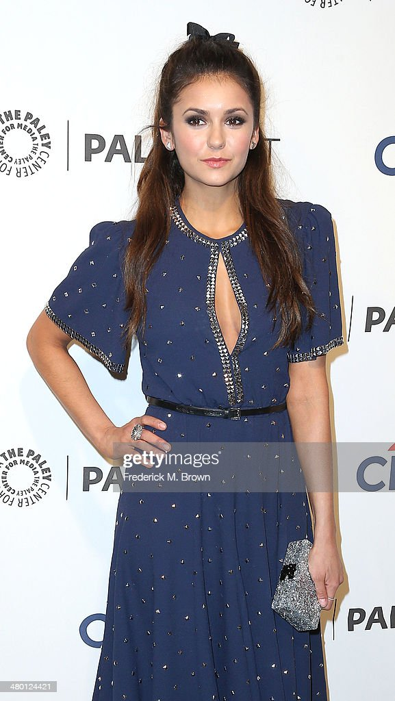 Actress <a gi-track='captionPersonalityLinkClicked' href=/galleries/search?phrase=Nina+Dobrev&family=editorial&specificpeople=4397485 ng-click='$event.stopPropagation()'>Nina Dobrev</a> attends The Paley Center for Media's PaleyFest 2014 Honoring 'The Vampire Diaries' and 'The Originals' at the Dolby Theatre on March 22, 2014 in Hollywood, California.