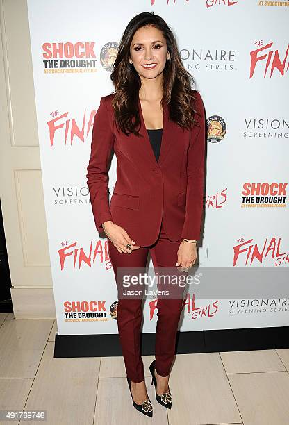Actress Nina Dobrev attends the premiere of 'The Final Girls' at The London Hotel on October 6 2015 in West Hollywood California