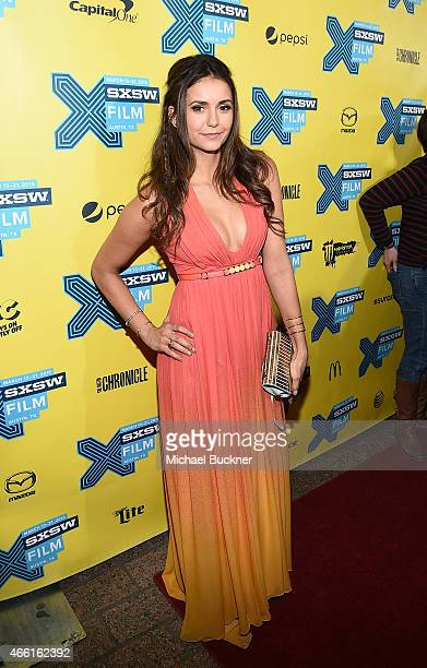 Actress Nina Dobrev attends the premiere of 'The Final Girls' during the 2015 SXSW Music Film Interactive Festival at The Paramount Theater on March...
