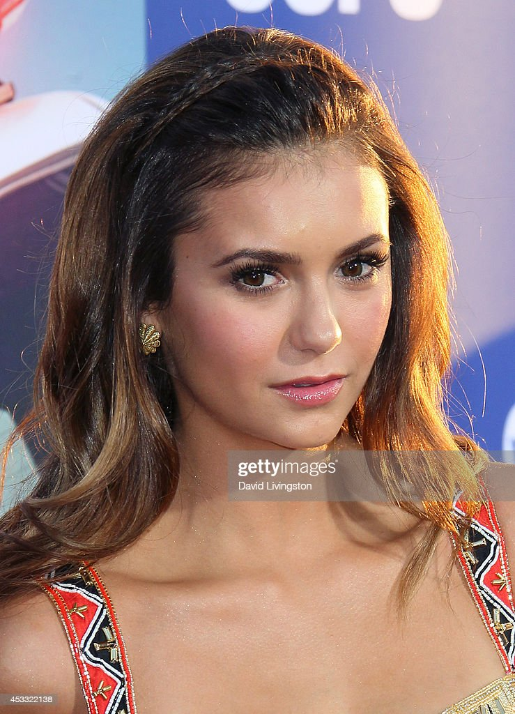 Actress <a gi-track='captionPersonalityLinkClicked' href=/galleries/search?phrase=Nina+Dobrev&family=editorial&specificpeople=4397485 ng-click='$event.stopPropagation()'>Nina Dobrev</a> attends the premiere of Twentieth Century Fox's 'Let's Be Cops' at ArcLight Hollywood on August 7, 2014 in Hollywood, California.