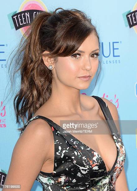 Actress Nina Dobrev attends the Teen Choice Awards 2013 at Gibson Amphitheatre on August 11 2013 in Universal City California