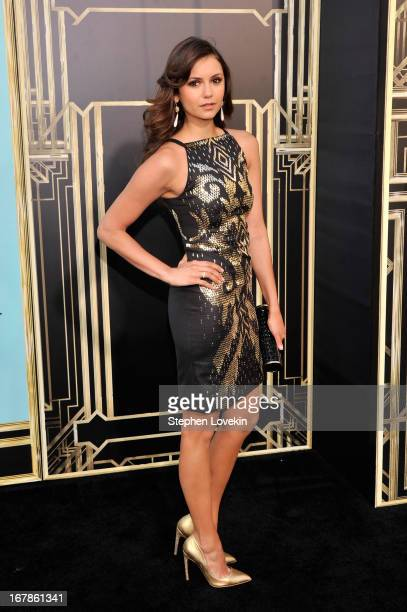 Actress Nina Dobrev attends the 'The Great Gatsby' world premiere at Avery Fisher Hall at Lincoln Center for the Performing Arts on May 1 2013 in New...