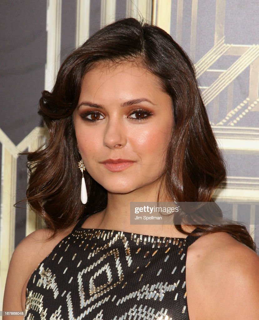 Actress <a gi-track='captionPersonalityLinkClicked' href=/galleries/search?phrase=Nina+Dobrev&family=editorial&specificpeople=4397485 ng-click='$event.stopPropagation()'>Nina Dobrev</a> attends the 'The Great Gatsby' world premiere at Avery Fisher Hall at Lincoln Center for the Performing Arts on May 1, 2013 in New York City.