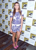Actress Nina Dobrev attends 'The Vampire Diaries' Press Line during ComicCon International 2014 at Hilton Bayfront on July 26 2014 in San Diego...