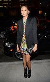 Actress Nina Dobrev attends the Versus Versace fashion show during MercedesBenz Fashion Week Spring 2015 at Metropolitan West on September 7 2014 in...
