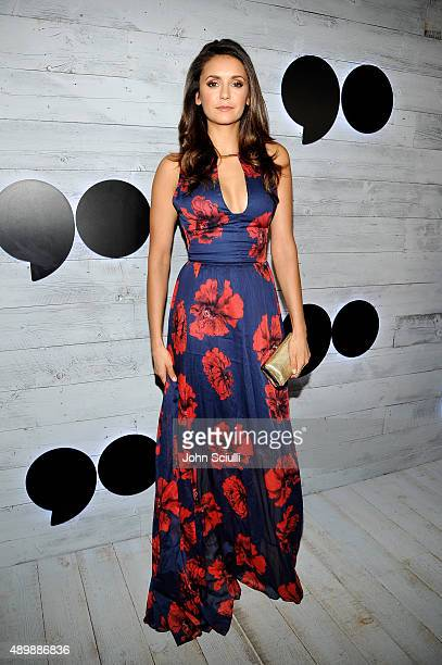 Actress Nina Dobrev attends the VIP sneak peek of the go90 Social Entertainment Platform at the Wallis Annenberg Center for the Performing Arts on...