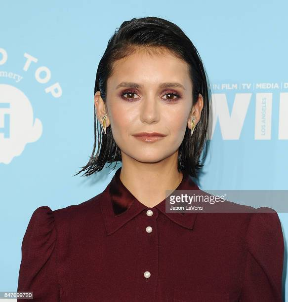 Actress Nina Dobrev attends Variety and Women In Film's 2017 preEmmy celebration at Gracias Madre on September 15 2017 in West Hollywood California
