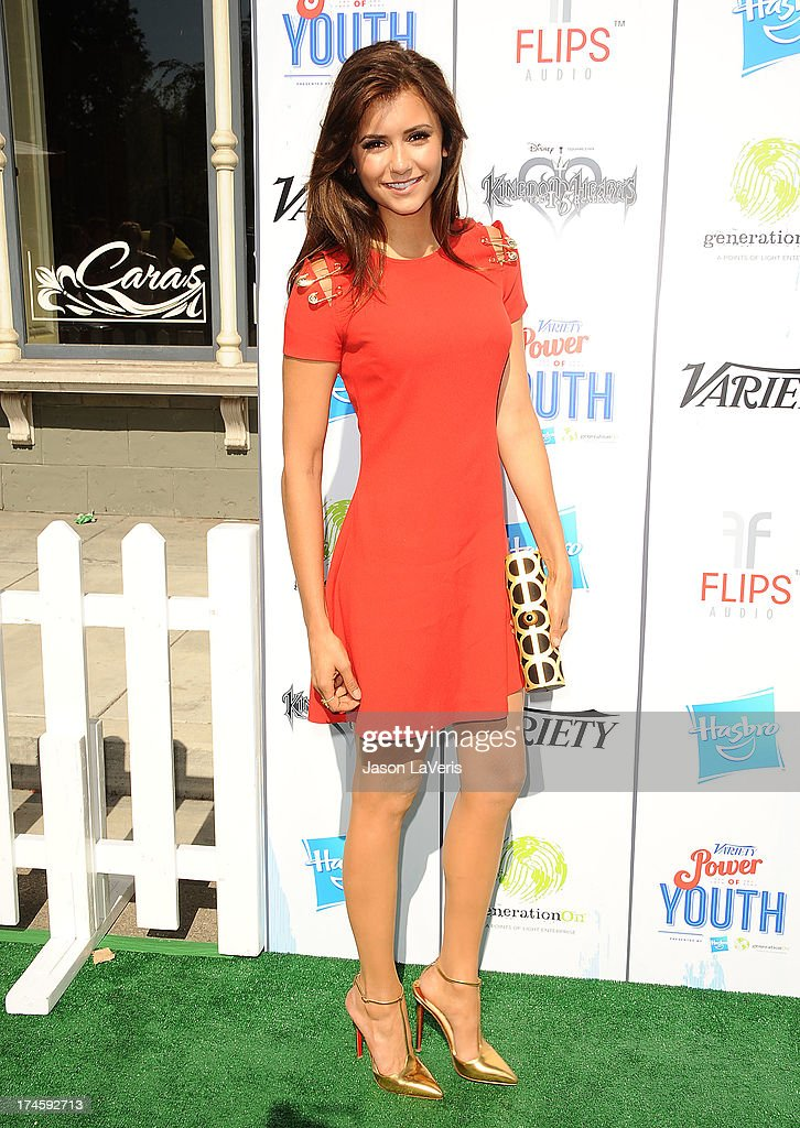 Actress <a gi-track='captionPersonalityLinkClicked' href=/galleries/search?phrase=Nina+Dobrev&family=editorial&specificpeople=4397485 ng-click='$event.stopPropagation()'>Nina Dobrev</a> attends Variety's 7th annual Power of Youth event at Universal Studios Hollywood on July 27, 2013 in Universal City, California.