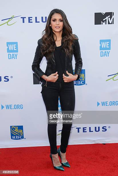 Actress Nina Dobrev attends We Day Toronto at the Air Canada Centre on October 1 2015 in Toronto Canada