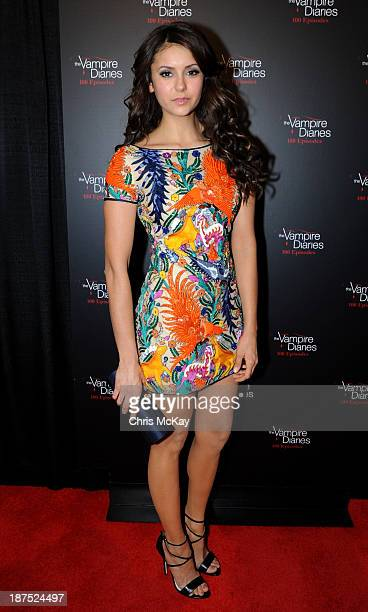 Actress Nina Dobrev attents The Vampire Diaries 100th Episode Celebration on November 9 2013 in Atlanta Georgia