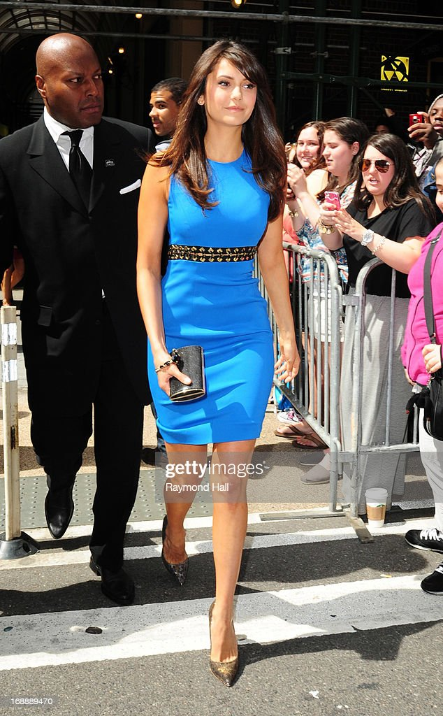 Actress Nina Dobrev is seen outside 'the London Hotel' on May 16, 2013 in New York City.