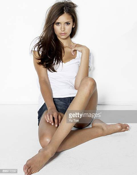 Actress Nina Dobrev poses for a portrait session in June 2009 Los Angeles CA