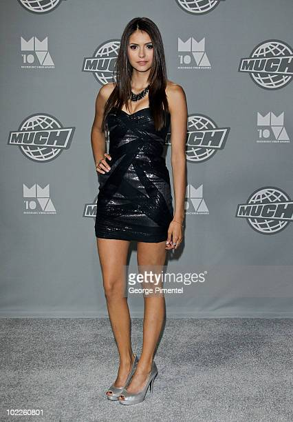 Actress Nina Dobrev poses in the press room at the 21st Annual MuchMusic Video Awards at the MuchMusic HQ on June 20 2010 in Toronto Canada