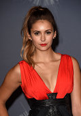 Actress Nina Dobrev poses in the press room during the 2014 MTV Video Music Awards at The Forum on August 24 2014 in Inglewood California