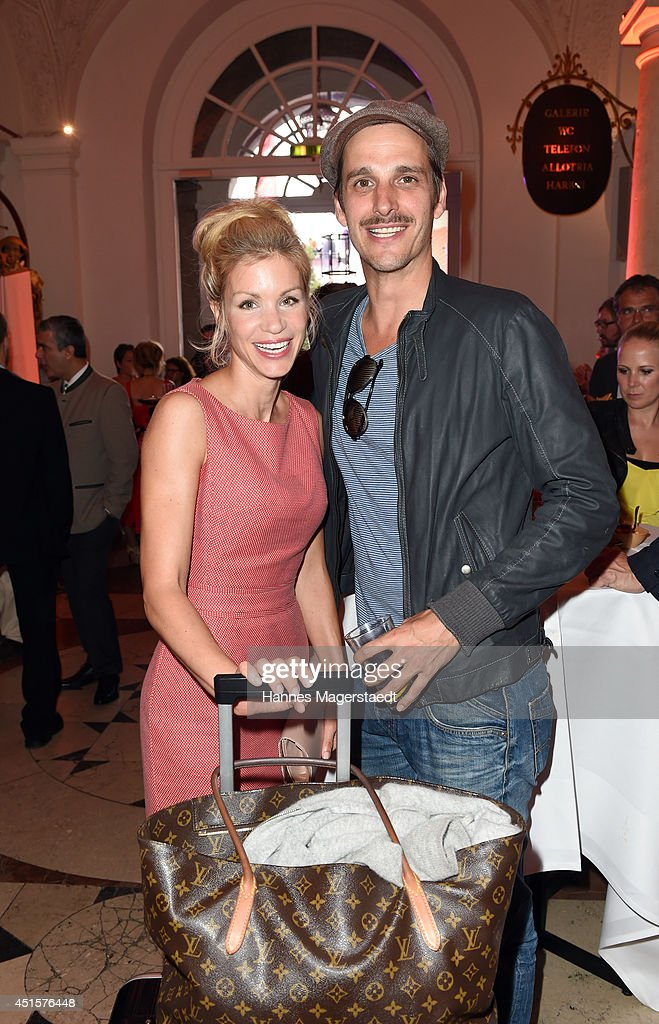 Actress Nina Gnaedig and actor Max von Thun attend the Bavaria Reception during the Munich Film Festival 2014 on July 1, 2014 in Munich, Germany.