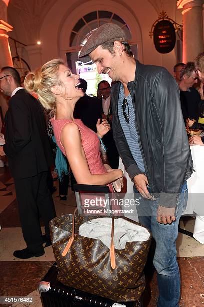 Actress Nina Gnaedig and actor Max von Thun attend the Bavaria Reception during the Munich Film Festival 2014 on July 1 2014 in Munich Germany