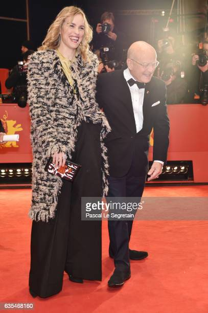 Actress Nina Hoss and producer/director and screenwriter Volker Schloendorff attend the 'Return to Montauk' premiere during the 67th Berlinale...