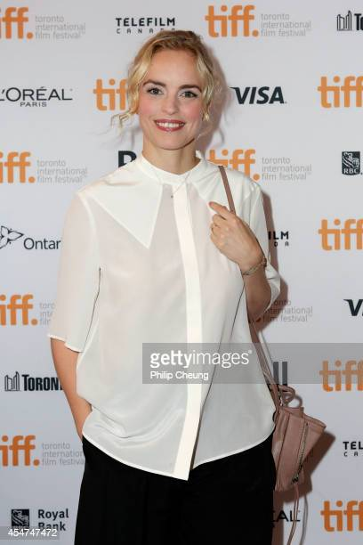 Actress Nina Hoss arrives at the premiere for 'Phoenix' held at The Elgin during the 2014 Toronto International Film Festival on September 5 2014 in...