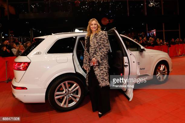 Actress Nina Hoss arrives at the 'Return to Montauk' premiere during the 67th Berlinale International Film Festival Berlin at Berlinale Palace on...